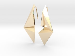 Sharp Enmotion Earrings in 14K Yellow Gold