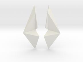 Sharp Enmotion Earrings in White Premium Versatile Plastic
