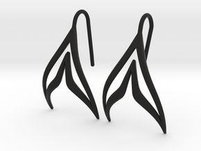 sWINGS Sharp Earrings in Black Natural Versatile Plastic