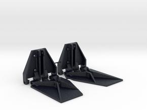 K Plane Trim Tabs 1:10 in Black Professional Plastic