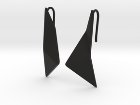 sWINGS Origami Earrings in Black Premium Versatile Plastic
