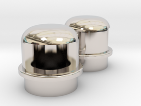 Navigation light Wellcraft SC38 Metal in Rhodium Plated Brass: 1:10
