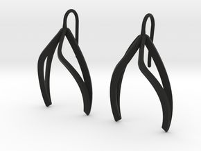 sWINGS Light Earrings. in Black Premium Versatile Plastic