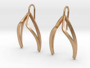 sWINGS Light Earrings. in Natural Bronze