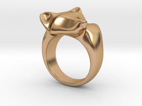 Fox Ring in Polished Bronze: 5 / 49