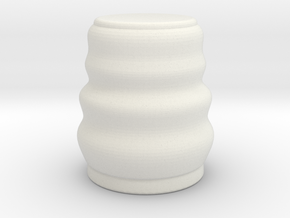 Wavey Shot Glass in White Natural Versatile Plastic