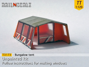 Bungalow tent (TT 1:120) in Smooth Fine Detail Plastic