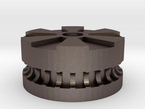 XYZ Da Vinci Idler (no bearings) in Polished Bronzed-Silver Steel