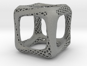 Perforated Twisted Cube in Gray Professional Plastic
