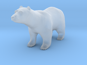 HO Scale Polar Bear in Smooth Fine Detail Plastic