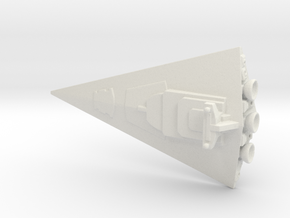 Not A Star Destroyer (Re-sized) in White Natural Versatile Plastic