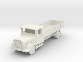 Saurer polish 1939 truck 1:87 in White Natural Versatile Plastic
