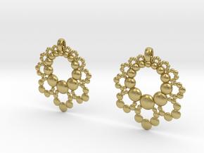 D Apo. Earrings in Natural Brass