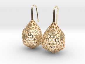 STRUCTURA Stylized, Earrings. in 14K Yellow Gold