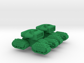 Bashkir Heavy Support Tracked Armor - 3mm in Green Processed Versatile Plastic