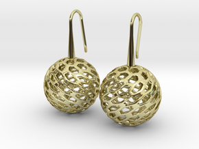 HONEYCANE Earrings in 18k Gold Plated Brass