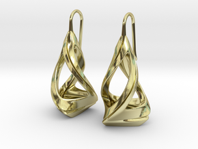 Trianon T.1, Earrings in 18k Gold Plated Brass