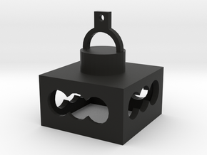 俊漢燈罩.stl in Black Premium Versatile Plastic