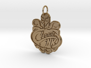 Classic Ink Tattoo Studio Logo Pendant in Polished Gold Steel