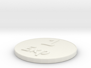 Exp Coin in White Natural Versatile Plastic