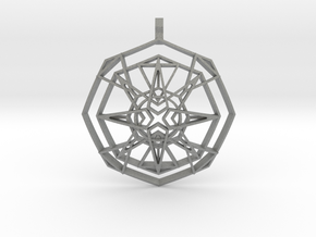 Metatron's Fire-Star (Domed) in Gray PA12