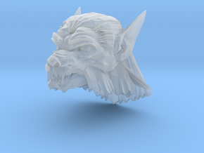 werewolf head 3 in Smooth Fine Detail Plastic