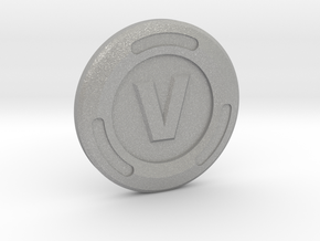 V-Buck Luck Charm in Aluminum