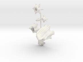 S Scale Stumps in White Natural Versatile Plastic