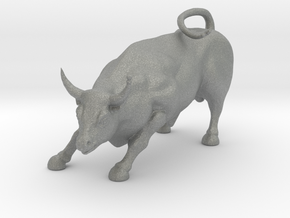 HO Scale Bull in Gray Professional Plastic