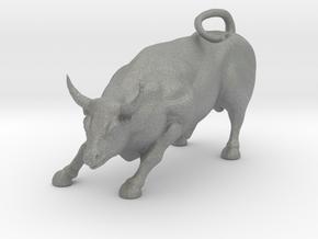 HO Scale Bull in Gray PA12