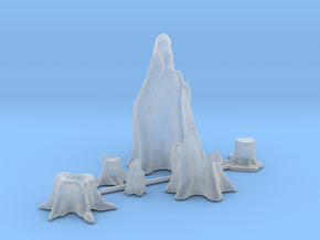HO Scale Stumps in Smooth Fine Detail Plastic