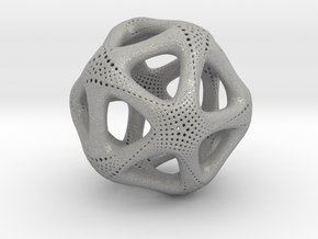 Perforated Twisted Icosahedron Type 1 in Aluminum