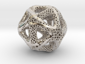 Perforated Twisted Icosahedron Type 2 in Platinum
