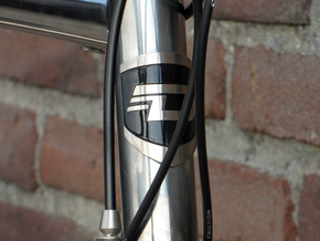 Headtube Badge Diamant - base in Polished Bronzed Silver Steel