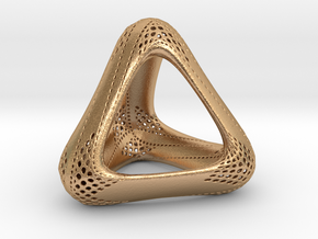 Perforated Tetrahedron in Natural Bronze