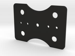 Bottom Plate Mica M in Black Natural Versatile Plastic