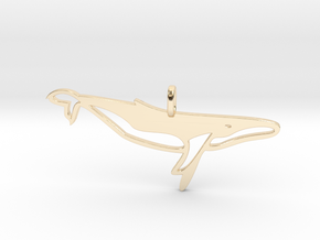 Whale pendant in 14K Yellow Gold