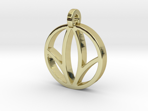 Herbalife Nutrition Pendant_V_2 in 18k Gold Plated Brass