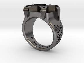 Russian Ring in Polished Nickel Steel: Medium