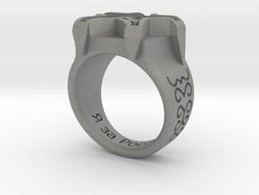 Russian Ring in Gray PA12: Medium