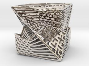 Tetrahedron inside Cube in Platinum