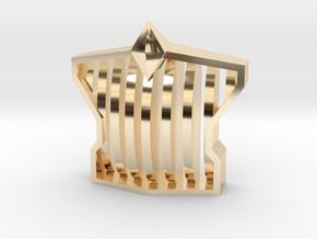 grill-monster-v2 in 14k Gold Plated Brass