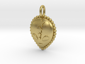 Among Us Pendant in Natural Brass