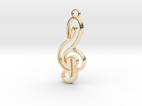 Negative space key note in 14K Yellow Gold