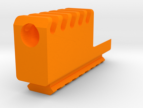 Frame Mounted Compensator with Bottom Rail for G19 in Orange Processed Versatile Plastic
