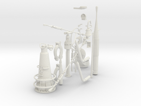 1/16 DKM U-Boot VIIC Conning Tower Detail KIT in White Natural Versatile Plastic