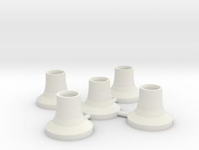 5 Soportes Carroceria in White Natural Versatile Plastic