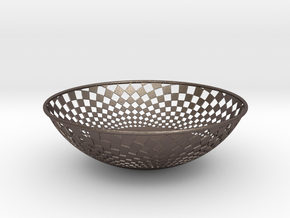 Bowl 1409B in Polished Bronzed-Silver Steel