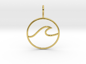 Wave Pendant in Polished Brass