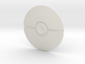 Poke Ball in White Premium Versatile Plastic